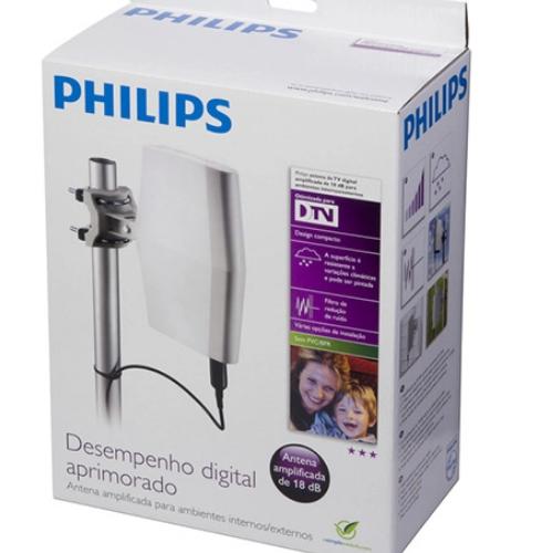 Antena Digital Externa Amplificada 18dB SDV8622T/55 - Philips