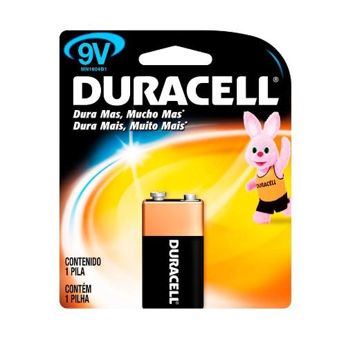 Bateria Alcalina Duracell 9V