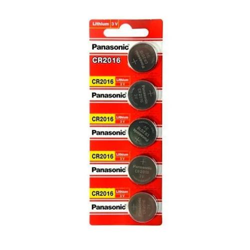 Bateria Panasonic Cr 2016 3v Lithium Cartela C/ 5 Unid Pilha