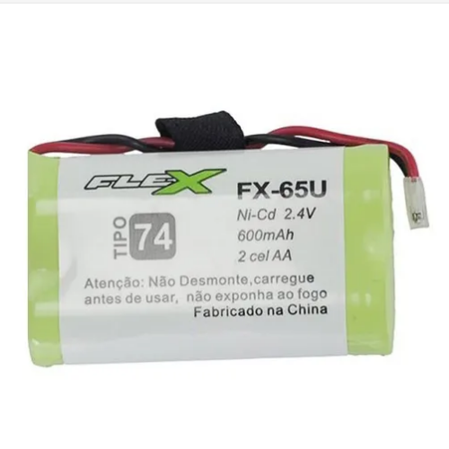 Bateria Telefone S/fio Fx-65u 2.4v 600mah 2aa Tipo 74 Flex