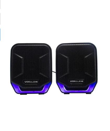 Caixa De Som Para Computador E Smartphone 8w Azul Com Bass Infokit Vc-d360