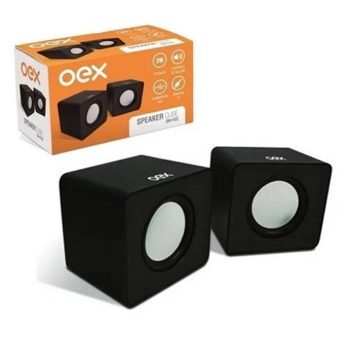 Caixa de Som Speaker Cube 3W SK102 Preto - Oex
