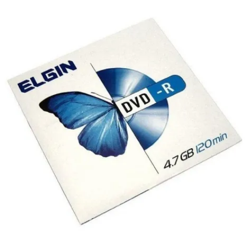 DVD-R Elgin Midia 4.7GB 120min 16X Envelope com 20 envelopes