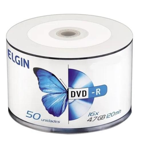 Dvd-r Gravável 4.7gb Elgin Bulk C/50 Un