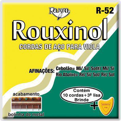 Encordoamento para Viola de Aço Rouxinol R-52