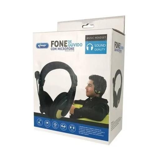 Fone Com Microfone Knup Headset KP-320