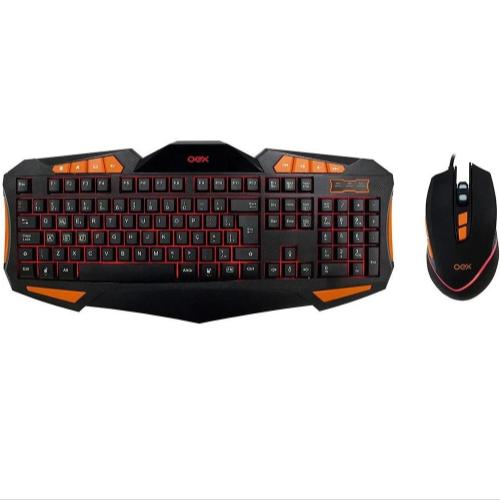 Kit Gamer Teclado E Mouse 4000dpi Usb Combo Gear Tm301 Oex