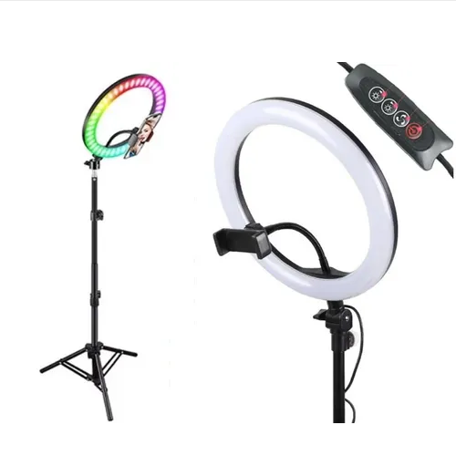 Led Ring Light Rgb + Tripé Suporte