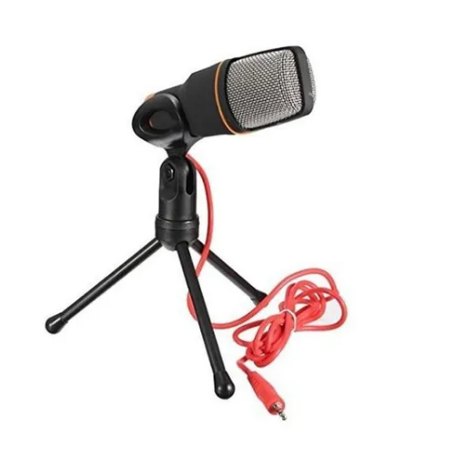 Microfone Condensador Gravar Com Tripe Pc Notebook