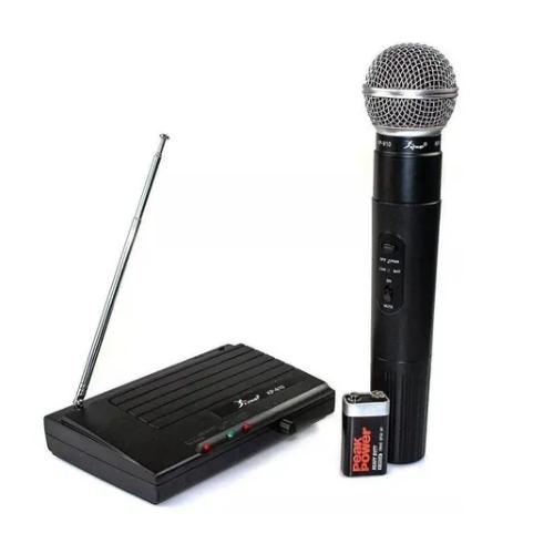 Microfone Sem Fio Profissional Uhf Kp 910
