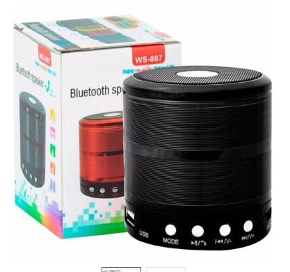 Mini Caixa Som Portátil Bluetooth Mp3 Fm Ws-887