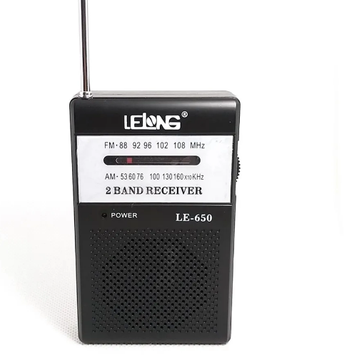 Mini Rádio De Bolso Am/Fm Le-650- Lelong