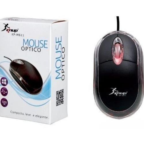 Mouse Óptico Usb 2.0 Led Kp-m611 Knup