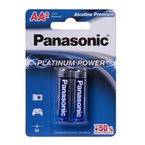 Pilha Aa Alcalina Panasonic Platinum Power C/2 Un