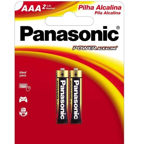 Pilha Panasonic Alcalina Palito AAA cartela com 2