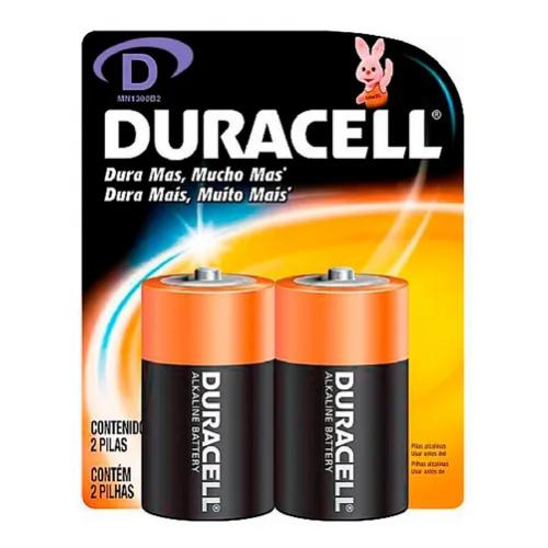 Pilha Tipo D 2 Unidades Grande Alcalina - Duracell