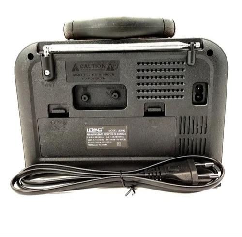 Rádio Am Fm Bluetooth USB Retro Lelong Le-643 Recarregável