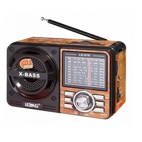 Radio Le616 - Am Fm Sw Usb Cartao Sd Aux Lelong