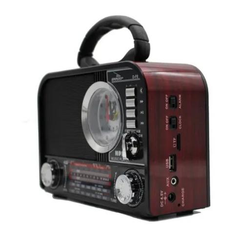 Rádio Retrô Bluetooth Am Fm Sw Usb Sw DF8 grasep