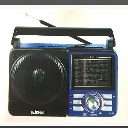 Rádio  Retro Usb Sd Peandrive Am/Fm/Sw Lelong Le-610 Bivolt