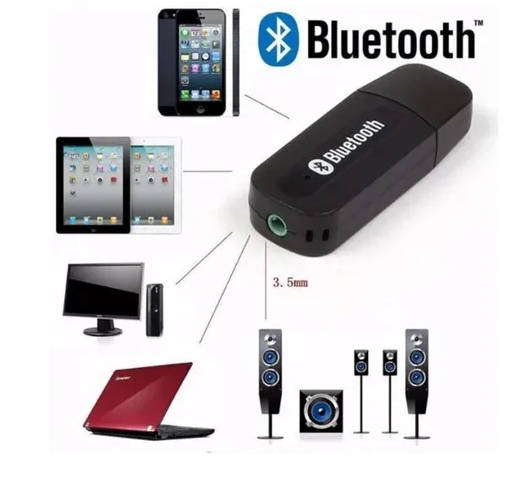 Receptor Adaptador Bluetooth Usb P2 Audio Stereo