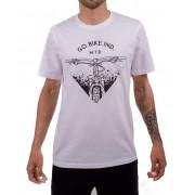 Camiseta Casual Go Bike Ind Mtb Branca