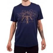Camiseta Casual Go Bike Is Life Azul