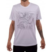 Camiseta Casual Go Bike Serra do Rio do Rastro 3D Branca