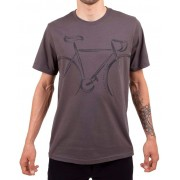 Camiseta Casual Go Bike Speed Classic Cinza
