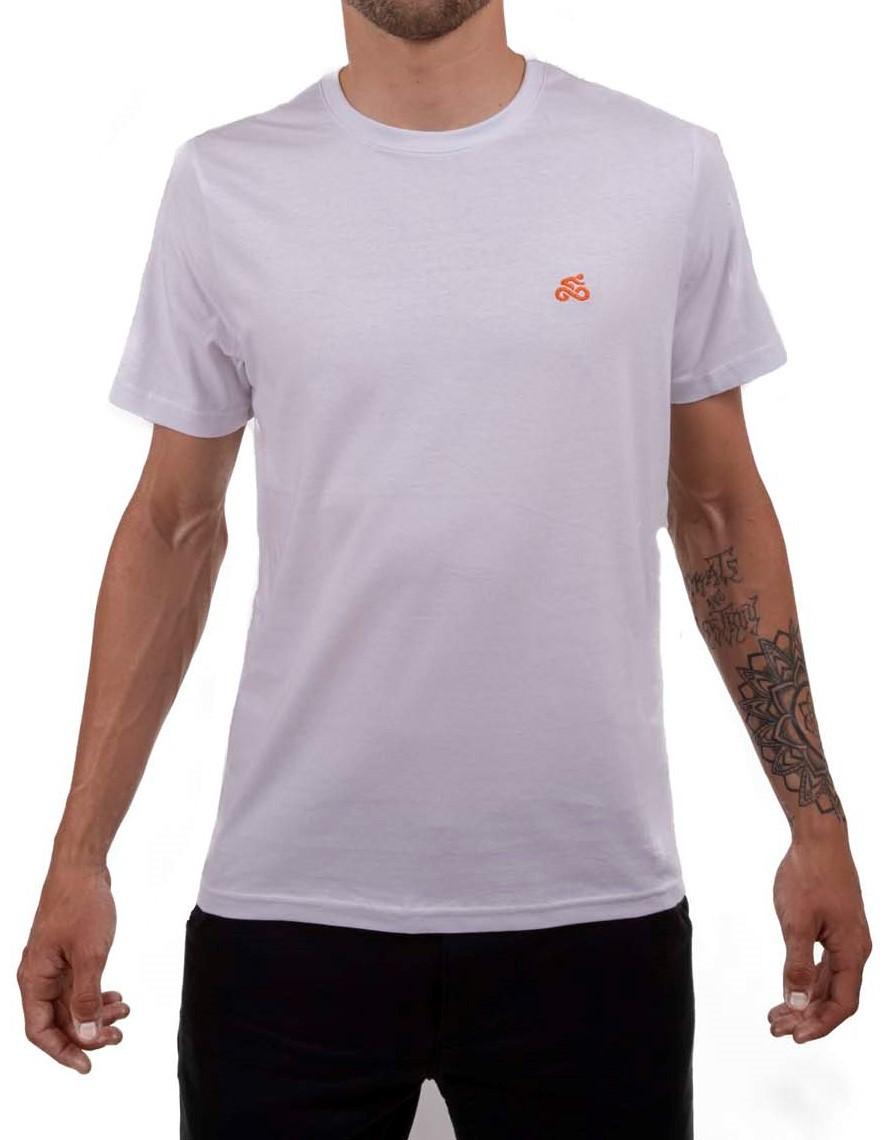 Camiseta Casual Go Bike Básica Branca