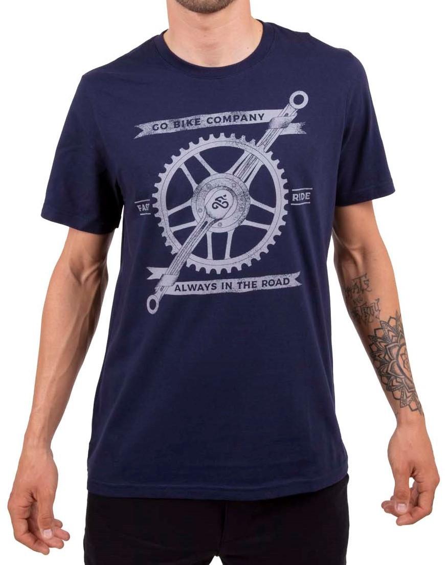 Camiseta Casual Go Bike Company Azul
