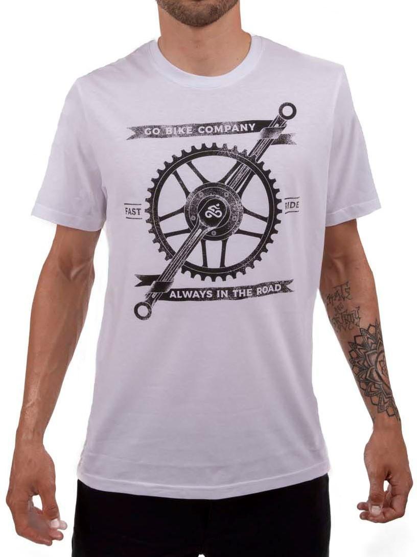 Camiseta Casual Go Bike Company Branca