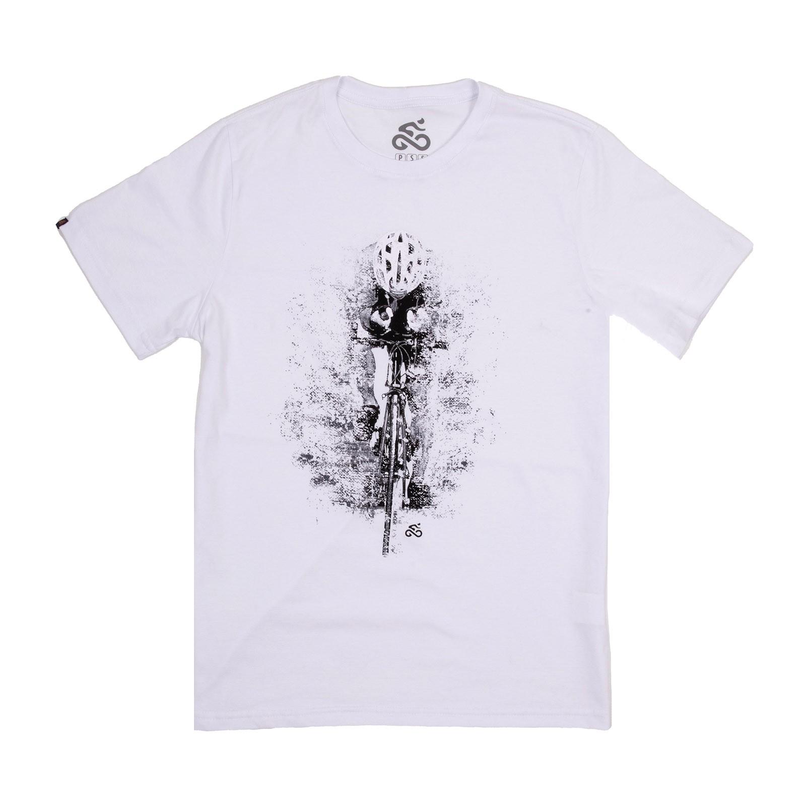 Camiseta Casual Go Bike Contrarrelógio Branca