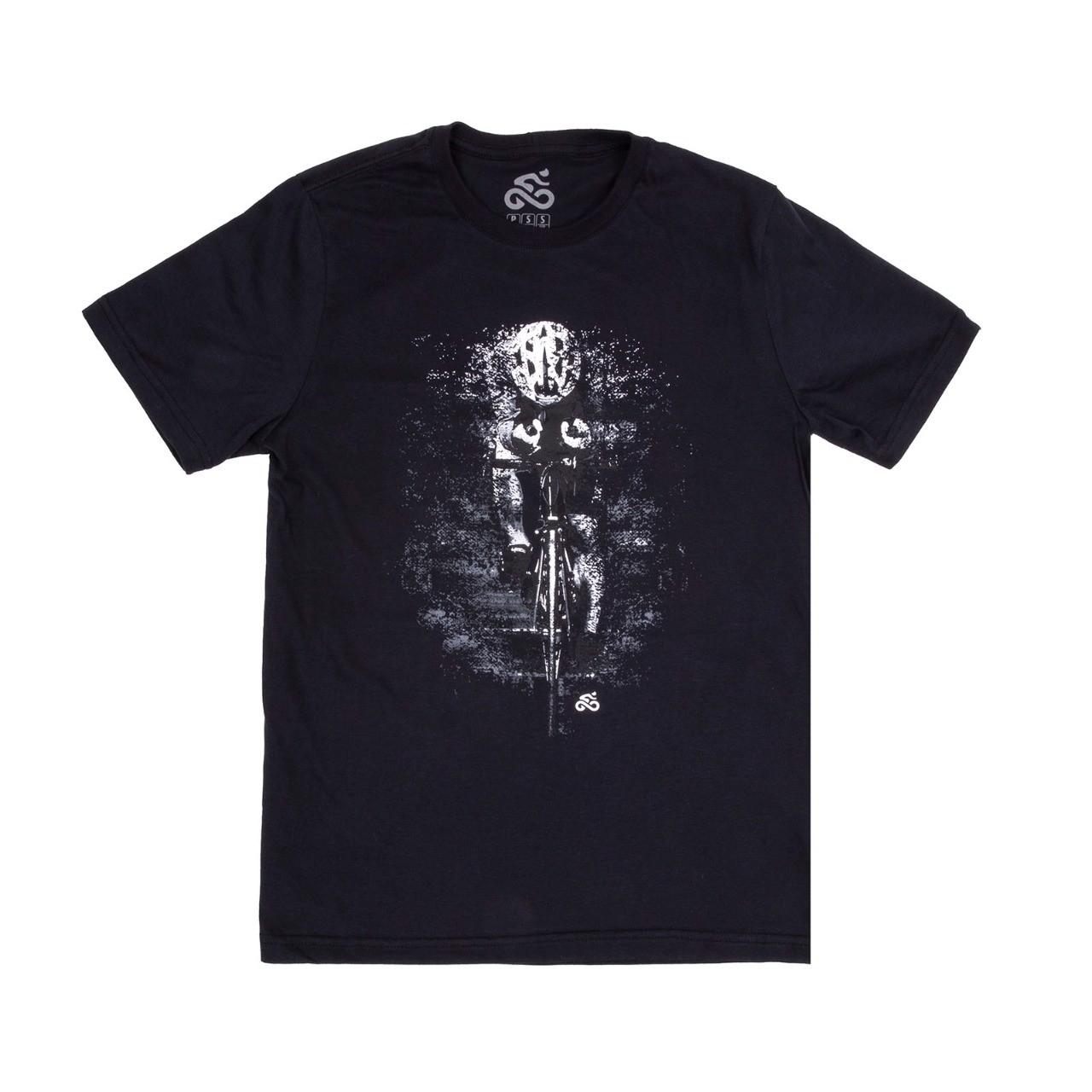 Camiseta Casual Go Bike Contrarrelógio Preta