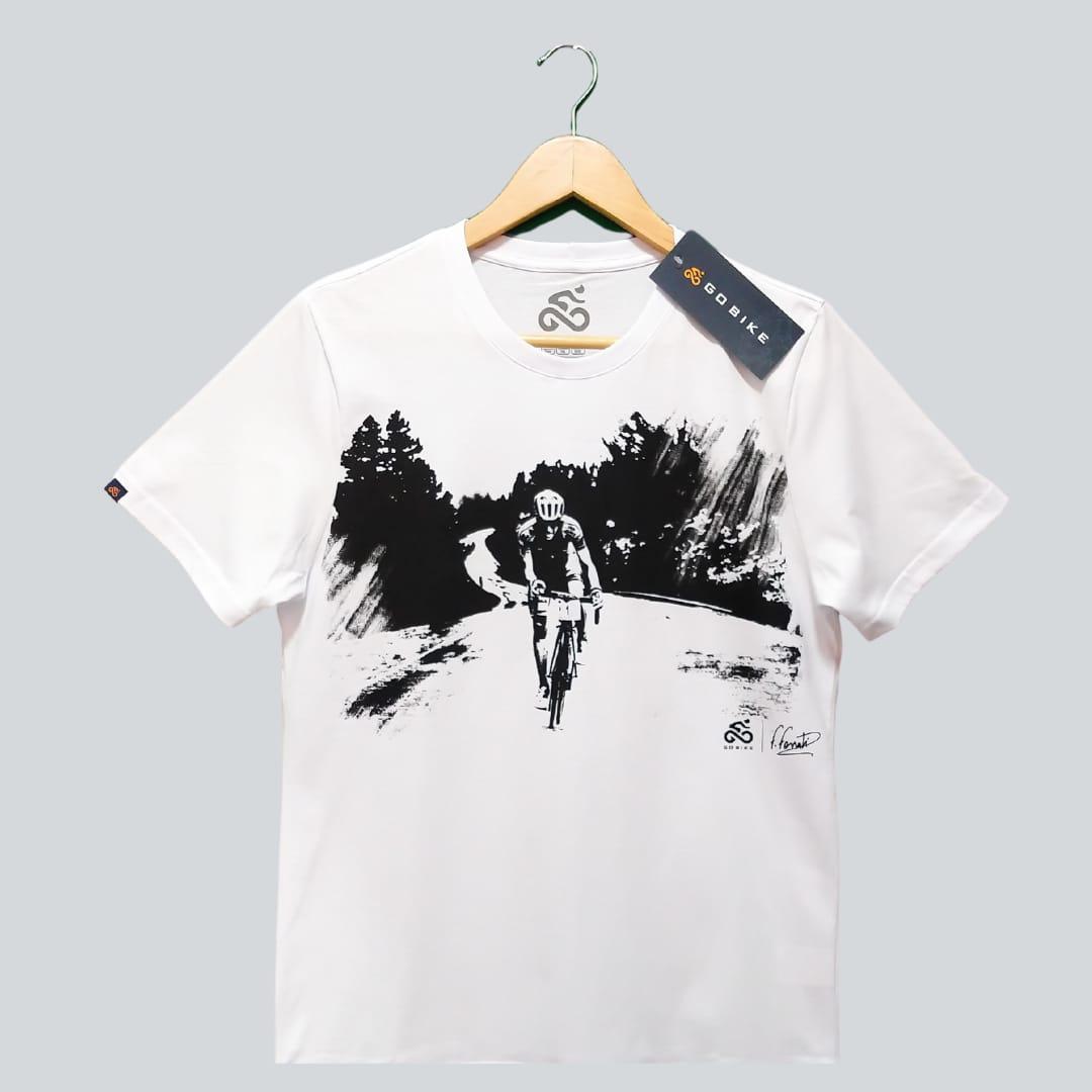 Camiseta Casual Go Bike Felipe Fossati Branca