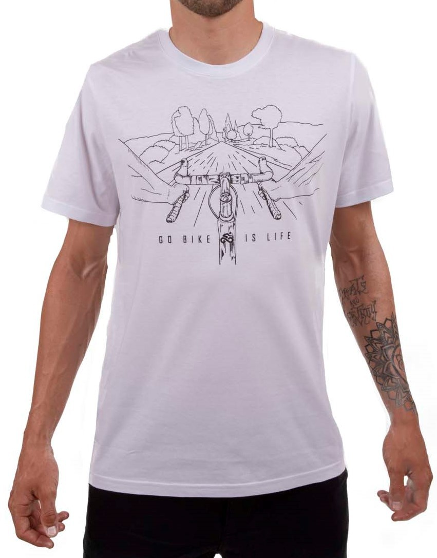 Camiseta Casual Go Bike Is Life Branca