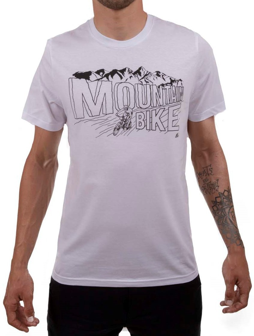 Camiseta Casual Go Bike Mountain Branca