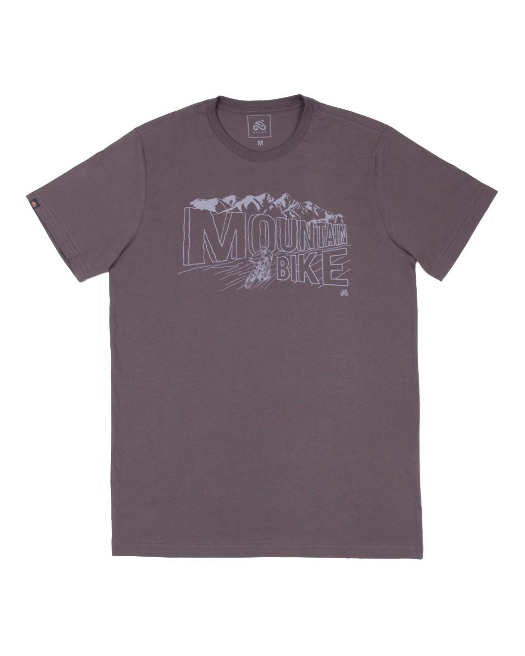 Camiseta Casual Go Bike Mountain Cinza