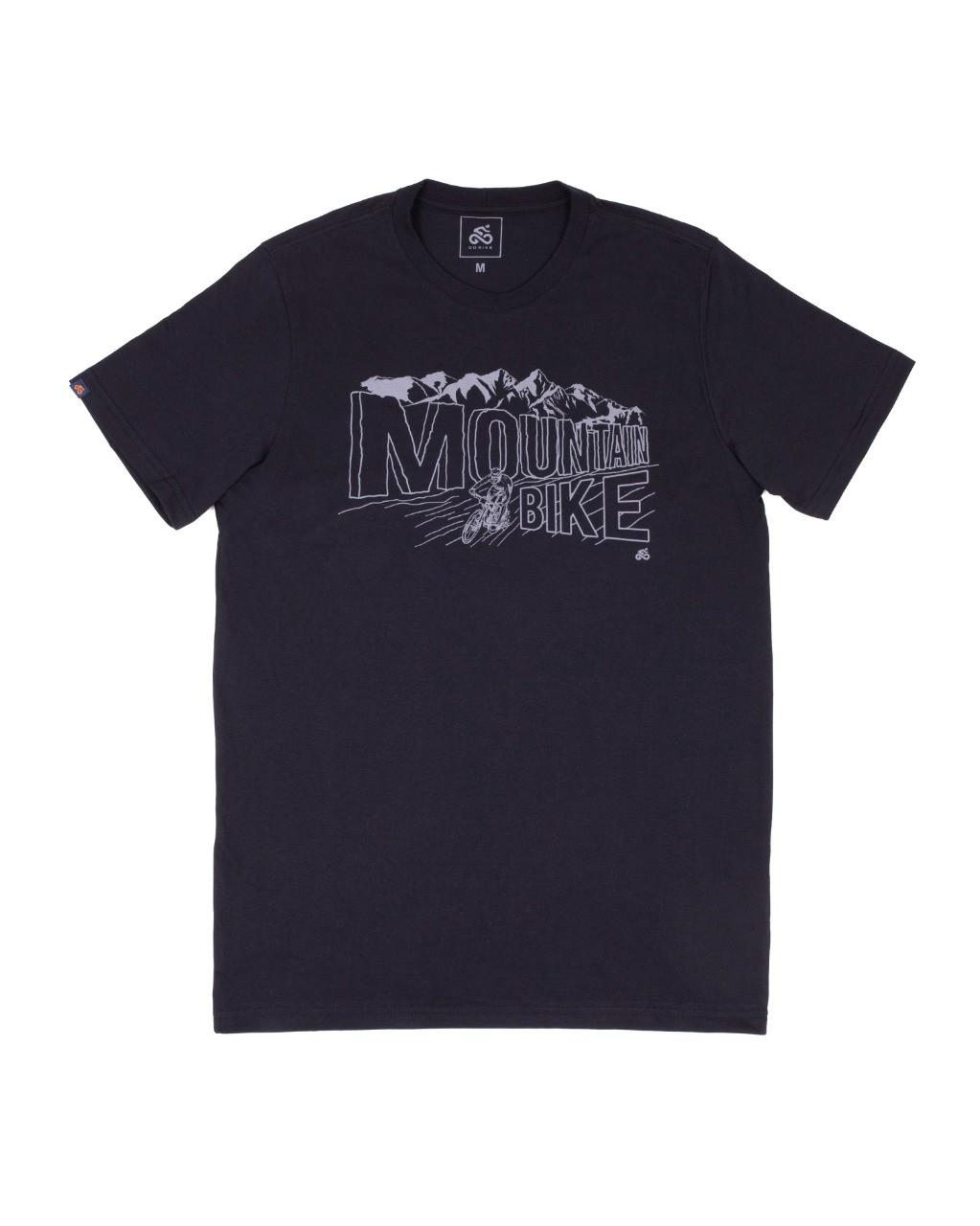 Camiseta Casual Go Bike Mountain Preta