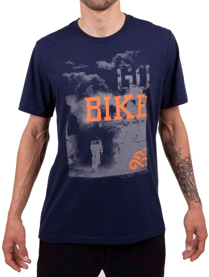 Camiseta Casual Go Bike Pedal Nosso Azul