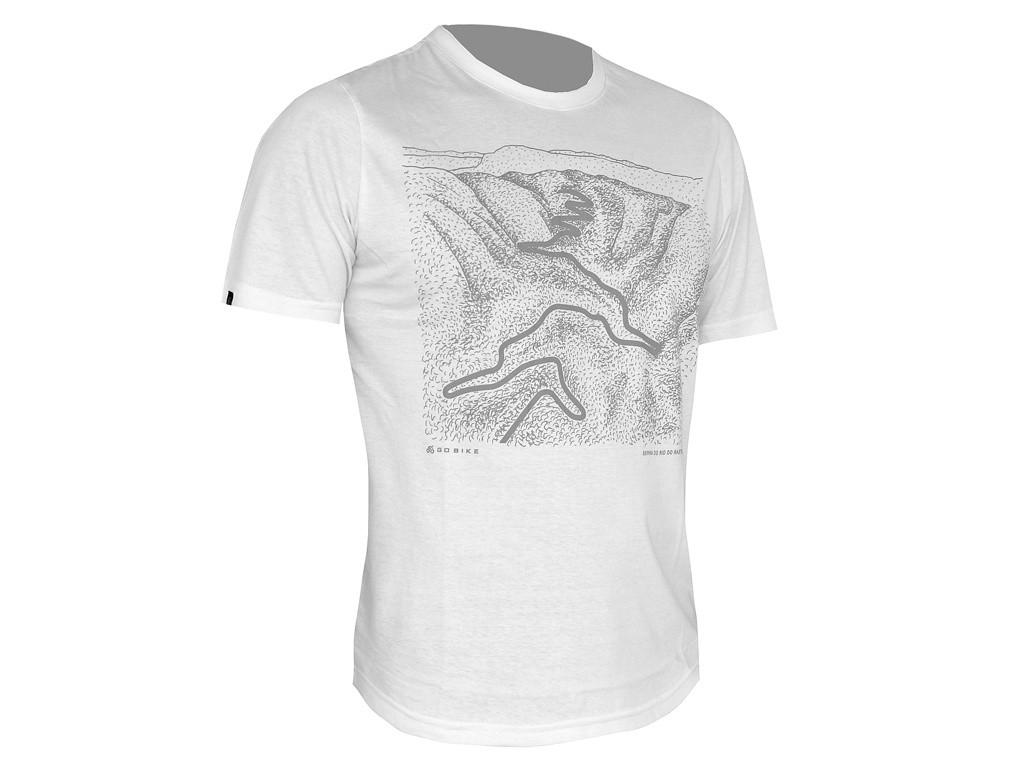 Camiseta Casual Go Bike Serra do Rio do Rastro 3D Branca