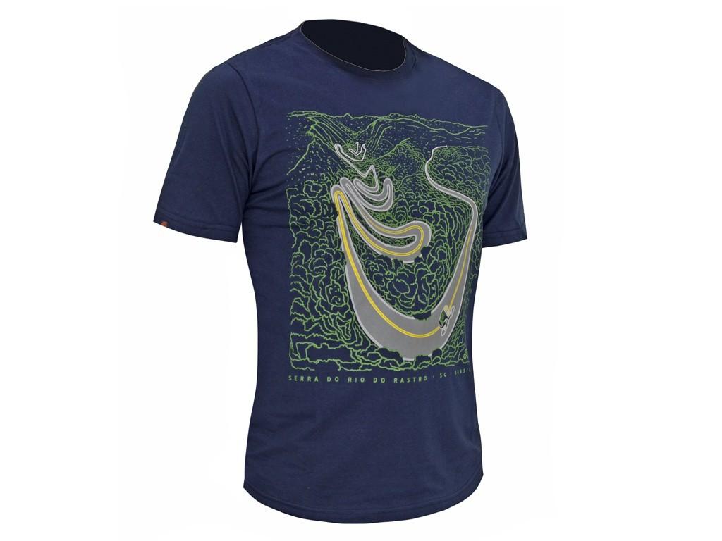 Camiseta Casual Go Bike Serra do Rio do Rastro Azul