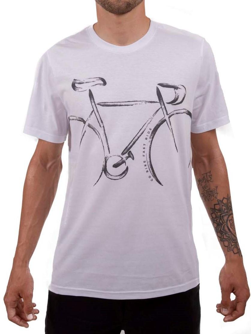 Camiseta Casual Go Bike Speed Classic Branca