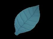 Tapete Folha Azul Petroleo - Fofinho