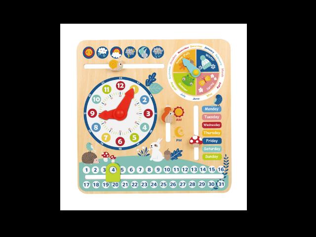Calendário Infantil de Madeira
