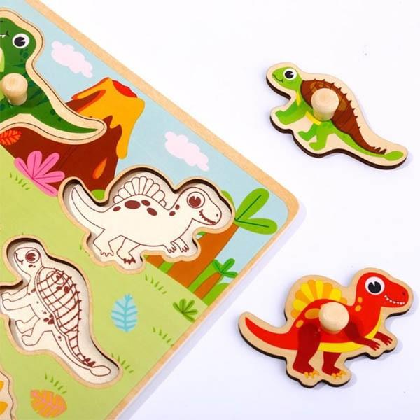 Encaixe Dinossauro - Com Pinos
