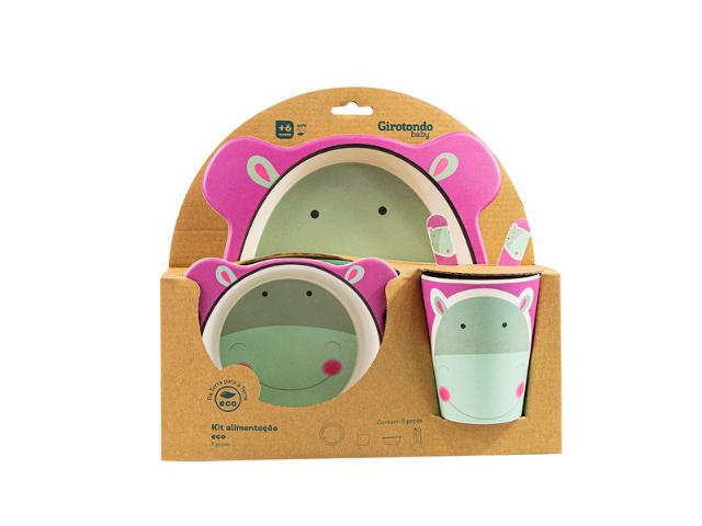 Kit Alimentação Hipo Eco Girotondo Baby - 5 unidades