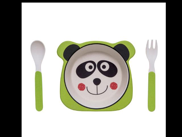 Kit Alimentação Panda Eco Girotondo Baby - 3 peças