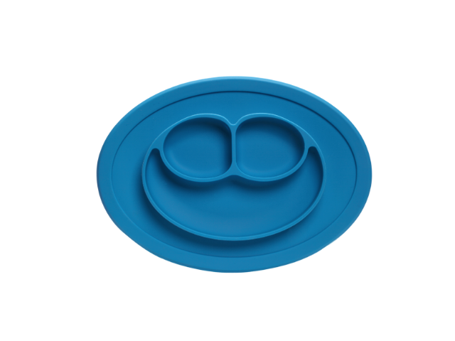 Pratinho Azul de Silicone Com Divisórias
