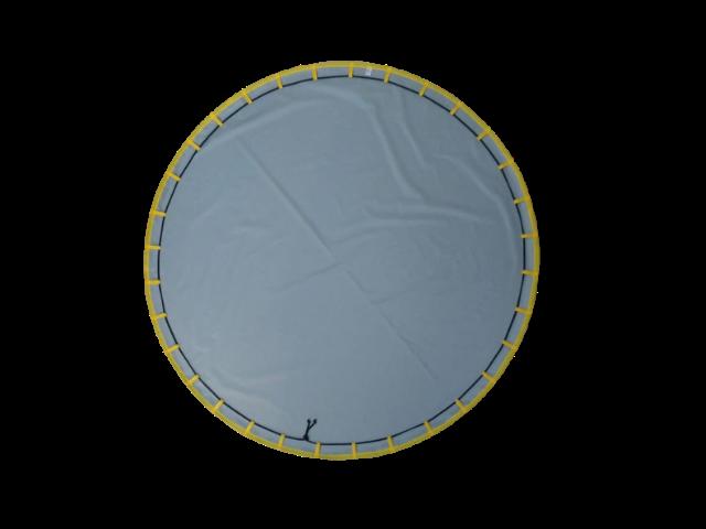 Tapete BLW 1,30m - Cinza Acabamento Amarelo